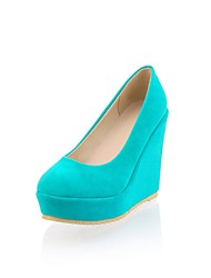 cheap -Shoes Leatherette Spring Fall Comfort Heels High Heel Round Toe for Casual Dress Fuchsia Light Grey Blue