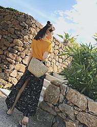 Sirena kroj Ležerne prilike Dnevno Suknje Svila Cvjetni print Zima