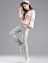 abordables -Mujer Algodón Pantalones de Deporte Pantalones - Un Color / Invierno