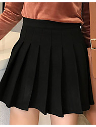 cheap -Women's Going out Cotton Pencil Skirts - Solid Colored