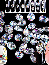 abordables -Nail Glitter Cristal Luxe Dessin Clair Nail Art Design