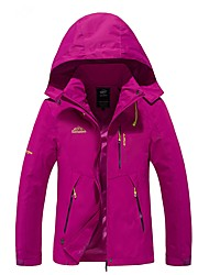 cheap -Women's Hiking Jacket Outdoor Windproof Rain-Proof Winter Jacket Jacket Top Full Length Visible Zipper Camping / Hiking Climbing Cycling