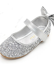 cheap -Girls' Shoes Sparkling Glitter Spring / Fall Comfort / Novelty / Flower Girl Shoes Flats Bowknot / Magic Tape for Gold / Silver
