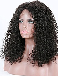 economico -Capello vergine 360 frontale Parrucca Brasiliano Riccio Con ciuffetti Lordo Parrucca riccia stile afro Corto Lungo Lunghezza media 150%