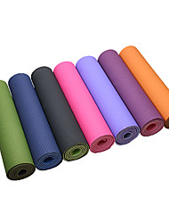 cheap -Yoga Mat 183*61*0.6 cm Odor Free, Eco-friendly, Extra Thick, Intranet Reinforcement, High Density, Sticky TPE Waterproof, Non Toxic, Non-slip For Pilates / Exercise & Fitness / Bikram Green, Pink