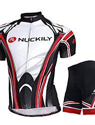cheap -Nuckily Short Sleeves Cycling Jersey with Shorts - Black Bike Shorts Jersey Clothing Suits, Waterproof, Ultraviolet Resistant,