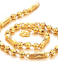 cheap -Men's Gold Plated Chain Necklace  -  Hip-Hop Fashion Rock , Gold Necklace For Daily Street