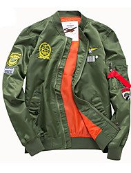 Недорогие -Муж. Куртка На каждый день С принтом / Длинный рукав