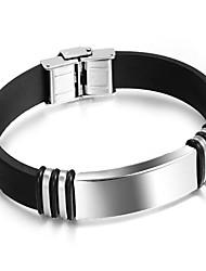 Недорогие -Муж. Браслет цельное кольцо - Мода Браслеты Серебряный Назначение Подарок Повседневные