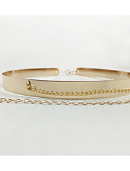 cheap -Women's Active Basic Leather Gold Plated Chain