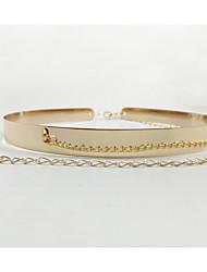 baratos -Mulheres Activo Básico Pele Chapeado Dourado, Corrente