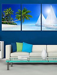 cheap -Canvas Print Modern, Three Panels Canvas Vertical Print Wall Decor Home Decoration