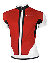 cheap -Nuckily Men's Short Sleeves Cycling Jersey - Red Blue Geometic Bike Jersey, Quick Dry, Anatomic Design, Breathable, Sweat-wicking,