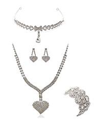 economico -Per donna I monili nuziali Gioielli per fronte Strass Diamanti d'imitazione Lega Di forma geometrica Cuori Di tendenza Europeo Matrimonio