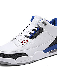 cheap -Men's Shoes Synthetic Microfiber PU / Tulle Spring / Summer Comfort Athletic Shoes Black / Black / White / White / Blue