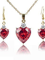 cheap -Women's Jewelry Set - Gold Plated Fashion Include Necklace Red For Wedding / Gift