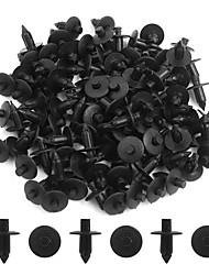 Недорогие -100шт черный 7мм автомобильный бампер push-style контактный зажим пластиковая заклепка