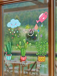 preiswerte -Botanisch Blumenmuster/Botanisch Wand-Sticker Flugzeug-Wand Sticker Dekorative Wand Sticker,Papier Haus Dekoration Wandtattoo Glas /