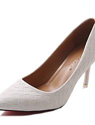Недорогие -Жен. Обувь Полиуретан Весна Осень Удобная обувь Обувь на каблуках Высокий каблук для Повседневные Белый Черный