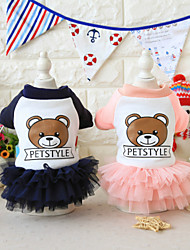 abordables -Perro Vestidos Ropa para Perro Animales Vestidos y faldas Animal Letra y Número Oso Azul Rosa Disfraz Para mascotas