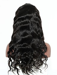 cheap -Human Hair Lace Front Wig Peruvian Hair Kinky Curly Body Wave With Baby Hair 250% Density Natural Hairline Medium Long Women's Human Hair