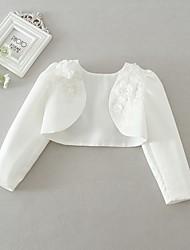 preiswerte -Mädchen Anzug & Blazer Alltag Solide Polyester Langarm Niedlich Weiß