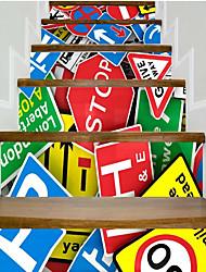 Недорогие -Абстракция Геометрия Наклейки Корпус Простые наклейки 3D наклейки Декоративные наклейки на стены Свадебные наклейки, Винил Бумага