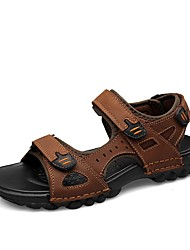 cheap -Shoes Leather Nubuck leather Summer Comfort Sandals for Office & Career Outdoor Black Brown
