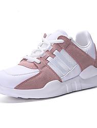 economico -Da donna Scarpe Tulle Primavera Autunno Comoda Sneakers Tennis Piatto Punta tonda Elastico per Sportivo Casual Nero Rosa