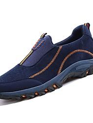 メンズシューズフリース冬秋快適な運動靴アウトドア用黒/赤ダークグレーパープルダークブルー