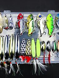 Недорогие -21 штук Рыболовная приманка Металлическая наживка Металл Морское рыболовство Ловля нахлыстом Ловля на приманку Ловля со льда Спиннинг