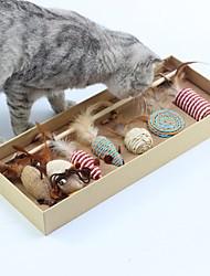 baratos -Varinhas de Brinquedo para Gatos Treinamento Interativo Jogos para Gatos O stress e ansiedade alívio Jingle Bell camundongo Tecido Para