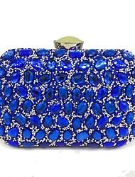 preiswerte -Damen Taschen Polyester Abendtasche Paillette / Kristall Verzierung für Hochzeit / Veranstaltung / Fest Schwarz / Silber / Rote