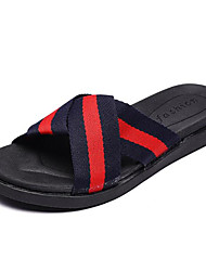cheap -Boys' Shoes Canvas Spring Summer Comfort Slippers & Flip-Flops for Casual Army Green Blue