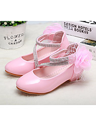 cheap -Girls' Shoes Patent Leather Spring / Fall Comfort / Flower Girl Shoes Heels for White / Black / Pink