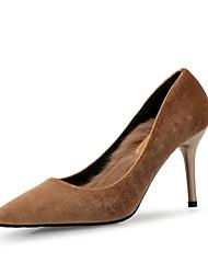 abordables -Femme Chaussures Flocage Printemps Automne Confort Chaussures à Talons Talon Aiguille pour Habillé Soirée & Evénement Noir Vert Amande