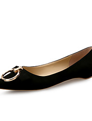 cheap -Women's Shoes Flocking Spring Fall Comfort Flats Flat Heel Pointed Toe Buckle for Dress Black Gray Khaki