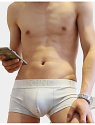 cheap -Men's Stretchy Print Briefs Underwear Thin,Cotton Polyester One-piece Suit Light Blue Yellow Gray Blushing Pink Orange