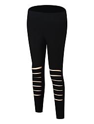 abordables -Femme Pantalons de Course Respirabilité Pantalon / Surpantalon Course / Running Polyester, Spandex Noir / Rouge S / M / L