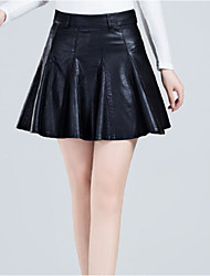 cheap -Women's A Line Skirts - Solid, Pleated Modern Style