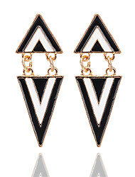baratos -Mulheres Brincos Compridos - Resina Fashion Dourado Para Para Noite / Escritório e Carreira
