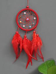 cheap -Wall Decor Feather/Fur Animals Wall Art, Dreamcatcher of 1