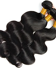 cheap -Brazilian Hair Body Wave Natural Color Hair Weaves Human Hair Weaves 8a Natural Black Women's