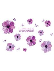 Недорогие -Романтика Цветы Наклейки Простые наклейки Декоративные наклейки на стены,Винил Украшение дома Наклейка на стену Стена Окно