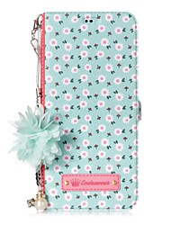 Недорогие -Кейс для Назначение SSamsung Galaxy S8 Plus S8 Бумажник для карт со стендом Флип С узором Своими руками Плитка Цветы Твердый для