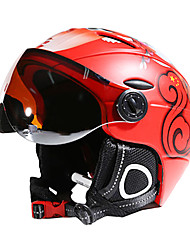 cheap -MOON Ski Helmet Unisex Adults' Ski / Snowboard Adjustable One Piece Helmet with Goggles Urban Ultra Light (UL) Sports Youth PC EPS CE