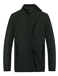 cheap -Men's Party Long Sleeves Cashmere - Solid Color Turtleneck