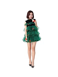 cheap -Santa Suit Christmas Dress Women's Christmas Festival / Holiday Halloween Costumes Dark Green Christmas Christmas