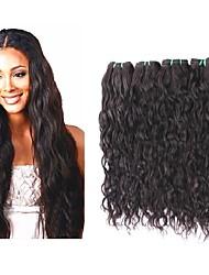 Недорогие -хорошее качество бразильские виргинские волосы естественная волна стиль 4bundles 400g много бразильских remy наращивание человеческих