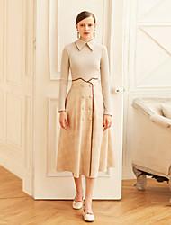 cheap -MASKED QUEEN Women's Work Vintage A Line Skirts Print